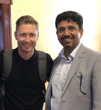 Michael Clarke and Ash Agarwal