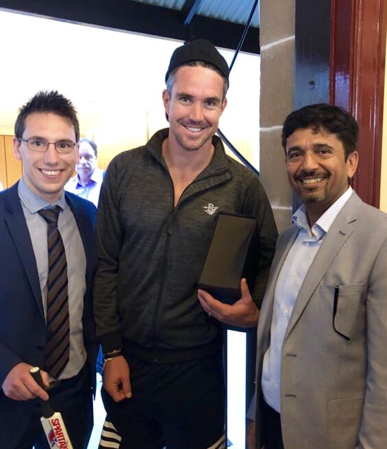 Rocco Musumeci, Kevin Pietersen and Ash Agarwal